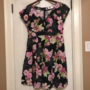 CHERRY VELVET floral dress